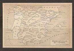 CARTE PLAN MAPA MAP 1935 RÉGIONS NATURELLES De L'ESPAGNE - REGIONES NATURALES DE ESPAÑA - ESPAGNE ESPANA SPAIN - Topographische Karten