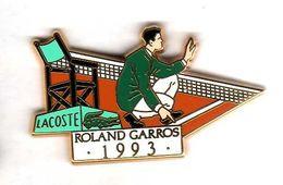 Pin's Lacoste Roland Garros 1993   Zamac Arthus Bertrand - Arthus Bertrand