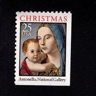 1035782419 SCOTT 2514 POSTFRIS MINT NEVER HINGED EINWANDFREI -  MADONNA & CHILD BY ANTONELLO RIGHT & UNDER IMPERF - United States