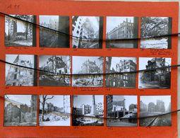 15 PHOTOGRAPHIES. LYON Après Le Bombardement Du 26 Mai 1944. Place Jean Macé, Dépot Des Tramways Rue Renault , - Guerre, Militaire