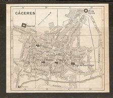 CARTE PLAN MAPA MAP 1935 CACERES - ESPAGNE ESPANA SPAIN - Topographische Karten