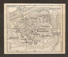 CARTE PLAN MAPA MAP 1935 BADAJOZ - ESPAGNE ESPANA SPAIN - Topographische Karten