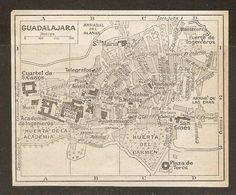 CARTE PLAN MAPA MAP 1935 GUADALAJARA - ESPAGNE ESPANA SPAIN - Topographische Karten