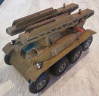 Jouet En Tôle JOUSTRA Chars Lance Missiles 1950 - Jouets Anciens