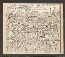 CARTE PLAN MAPA MAP 1935 OVIEDO - ESPAGNE ESPANA SPAIN - Topographische Karten