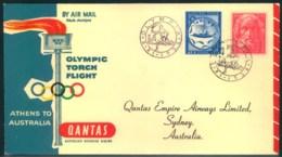 "1956, Olympic Torch Flight Mit Sonderstempel ""OLYMPIA"" Nach Sydney - Sommer 1956: Melbourne"