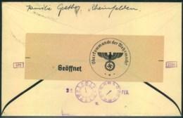 1940, Trauer-Drucksache Ab RHEINFELDEN In Die Schweiz Mit Zensur - Lettres