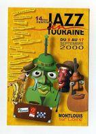 Jazz En Touraine. Sept 2000. Montlouis Sur Loire. Lockwood Azzola Violoncelle Cello Guitare Percussions Saxophone - Musik Und Musikanten