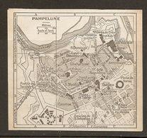 CARTE PLAN MAPA MAP 1935 PAMPELUNE - PAMPLONA - ESPAGNE ESPANA SPAIN - Topographische Karten