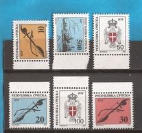 1992  BOSNIA REPUBLIKA SRPSKA  12-17  DEFINITIVE  MUSICA AECHITETTURA STEMMI NEVER HINGED - Bosnia Herzegovina