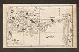 CARTE PLAN MAPA MAP 1935 SORIA - ESPAGNE ESPANA SPAIN - Topographische Karten