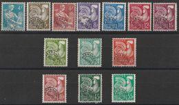 * Timbres France Préoblitérés Série N° Yvert 106/118 De 1953/1959 Oblitérés Cote 45 € - 1953-1960