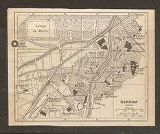 CARTE PLAN MAPA MAP 1935 GERONA - ESPAGNE ESPANA SPAIN - Topographische Karten