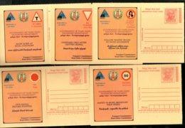India 2008 5 Diff Mahatma Gandhi Traffic Safety Advertisement Meghdoot Post Card MINT # 13231 - Mahatma Gandhi