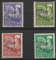 * Timbres France Préoblitérés Série N° Yvert 119/122 De 1960 Oblitérés Cote 24 € - Precancels