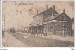 ROSENDAEL LA GARE ANIMEE TRAIN LOCOMOTIVE - France