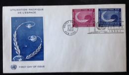 United Nations, Uncirculated FDC,  « SPACE », 1962 - New-York - Siège De L'ONU