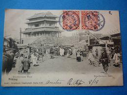 CHINE PEKING PEKIN CPA  DOSCHO-MEN THOR DOSCHO MEN GATE PRECURSEUR VOYAGEE 1906TIMBREE - Chine