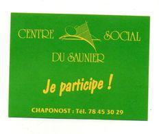 Autocollant Centre Social Du Saunier Je Participe ! - Format : 10.5x8 Cm - Adesivi