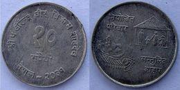 NEPAL 10 1974 ARGENTO SILVER FAO FOOD FOR RARE ALL PESO 8g TITOLO 0,643 CONSERVAZIONE COME FOTO - Népal