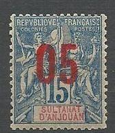 ANJOUAN N° 22  NEUF* TRACE DE CHARNIERE / MH - Anjouan (1892-1912)