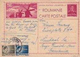 Romania 1946 Postal Stationery Card: Windmill Windmühle Moulin à Vent; Windmills Of Bessarabia RARE - Windmills
