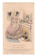 Gravure D'une Dame Avec Coiffure à La Renaissance Et Robe En Satin Grec 19 ème Siècle - Stampe & Incisioni