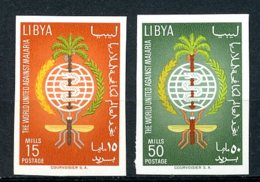 Libya, 1962, Fight Against Malaria, WHO, United Nations, MNH Imperforated, Michel 118-119B - Libye