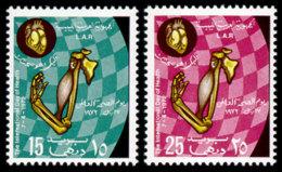 Libya, 1972, World Hearth Month, WHO, United Nations, MNH, Michel 387-388 - Libye