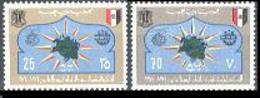 Libya, 1974, UPU Centenary, Universal Postal Union, United Nations, MNH, Michel 458-459 - Libye