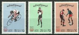 Libya, 1976, Olympic Summer Games Montreal, Cycling, Boxing, Football, MNH, Michel 531-533 - Libye