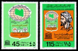 Libya, 1980, Science, Avicenna, UNESCO, United Nations, MNH, Michel 849-850 - Libye