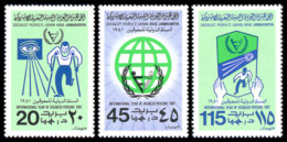 Libya, 1981, International Year For Disabled People, United Nations, MNH, Michel 857-859 - Libye
