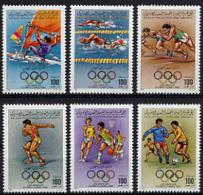 Libya, 1984, Olympic Summer Games Los Angeles, MNH, Michel 1379-1384A - Libye
