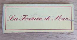 France Boite D'allumettes Vide - Restaurant La Fontaine De Mars - Boites D'allumettes
