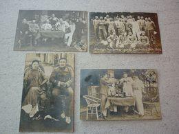 CAMBODGE  PHNOM PENH  RARE LOT DE 4 CARTES PHOTOS MISSION TOPOGRAPHIQUE 1909-1910 VOYAGEE 1910 - Cambodia