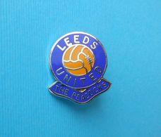 LEEDS UNITED FC - England Football Soccer Club Old Enamel Pin Badge Fussball Calcio Futbol Futebol Foot British - Calcio