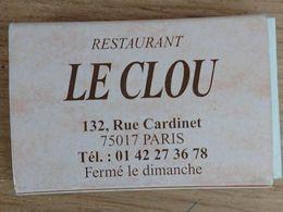 France Boite D'allumettes Vide - Restaurant Le Clou - Boites D'allumettes