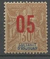 ANJOUAN N° 25 NEUF* TRACE DE CHARNIERE / MH - Anjouan (1892-1912)