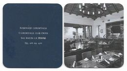 Rosewood Cordevalle, San Martin, U.S.A., Unsued Contactless Hotel Room Key Card, # Rosewood-34a  NEW SQUARE DESIGN - Hotel Keycards