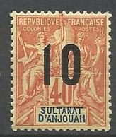 ANJOUAN N° 26 NEUF* TRACE DE CHARNIERE / MH - Anjouan (1892-1912)