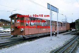 Reproduction D'une Photographie D'un Train BOB Chemin De Fer SPB Schynige Platte Bahn à Wilderswill En Suisse En 1972 - Reproductions