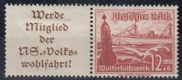 DR  W 127, Ungebraucht *, WHW: Schiffe 1937 - Zusammendrucke