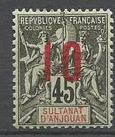 ANJOUAN N° 27 NEUF* TRACE DE CHARNIERE / MH - Anjouan (1892-1912)