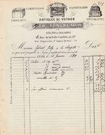 """Rhône - Lyon - Ch.Bon Et R.Garcin - Articles De Voyages, Valises, Malles, Caisses, """"Au Canon D'Or"""" 1894 Maroquinerie - 1800 – 1899"""
