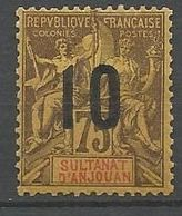 ANJOUAN N° 29 NEUF* TRACE DE CHARNIERE / MH - Anjouan (1892-1912)