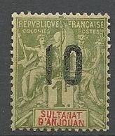 ANJOUAN N° 30 NEUF* TRACE DE CHARNIERE / MH - Anjouan (1892-1912)