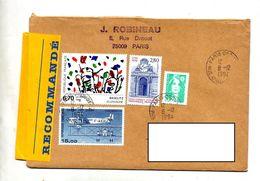 Lettre Recommandée Paris Sur Baselitz Farman - Marcophilie (Lettres)