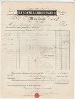 Dordogne - Mucidan (Mussidan) Baronnie Et Broussard - Fabrique De Cierges Et Bougies - Cire - 1870 - 1800 – 1899
