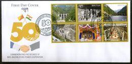 Bhutan 2019 Indo Bhutan Hydro Power Co-operation Energy Flag Dam FDC # F188 - Electricidad
